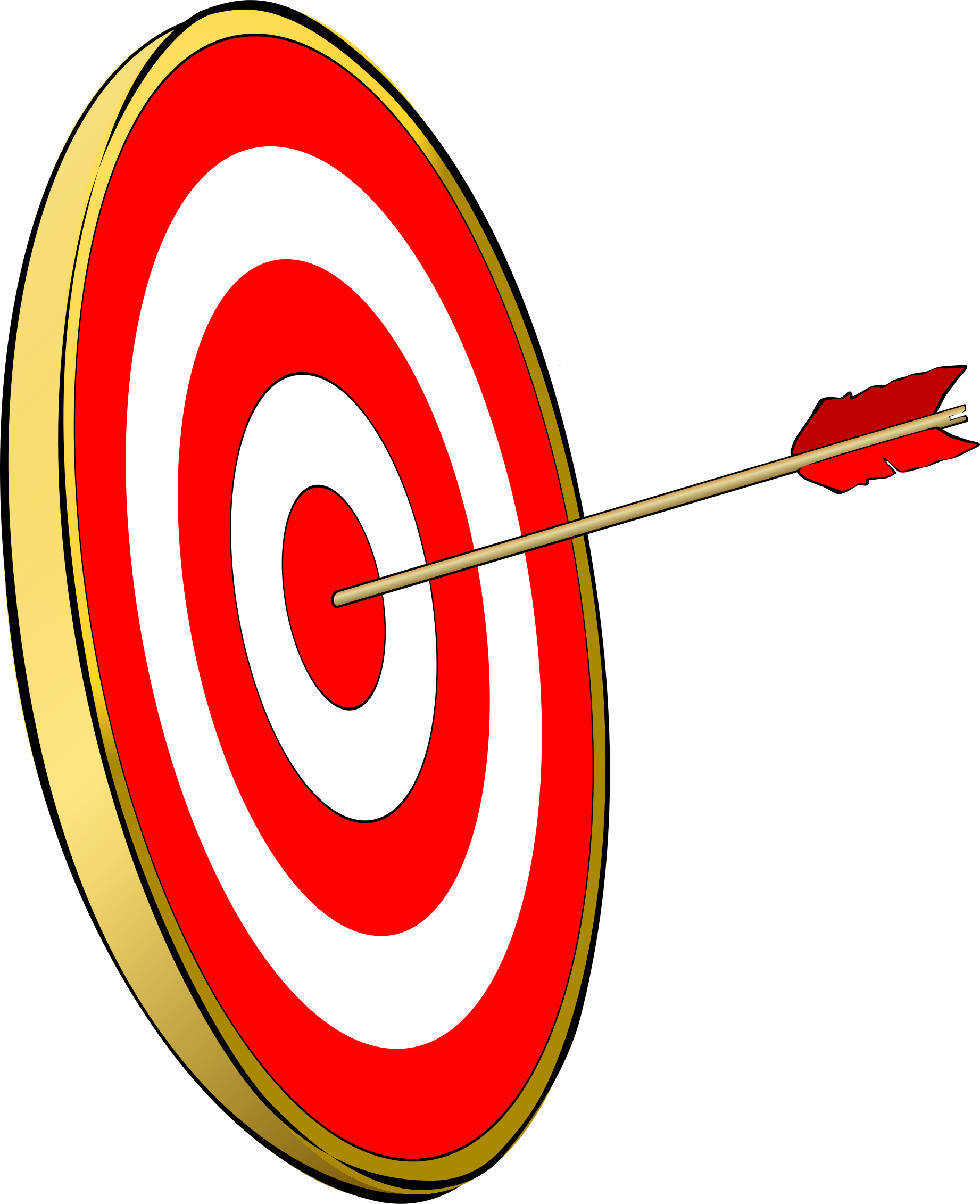 Bullseye clipart hit the target. Big image png