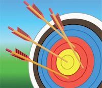 Bullseye clipart hit the target. Sports free archery to