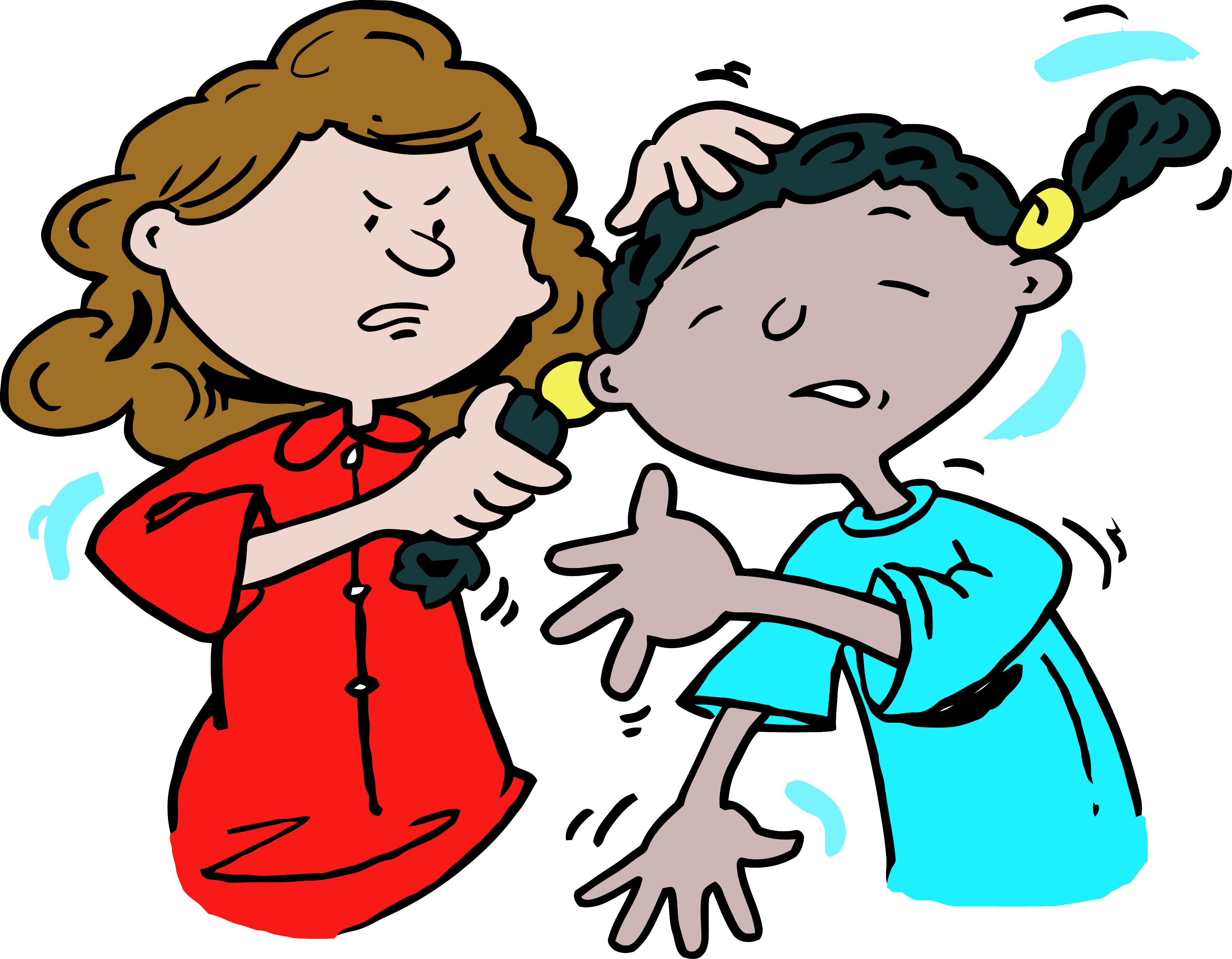 Fight physical pencil and. Bullying clipart deliberately picture black and white library