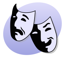 Swing wikipedia bipolar is. Mask clipart mood disorder vector black and white download