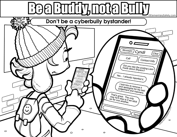 Bully drawing buddy. Dont be a bystander