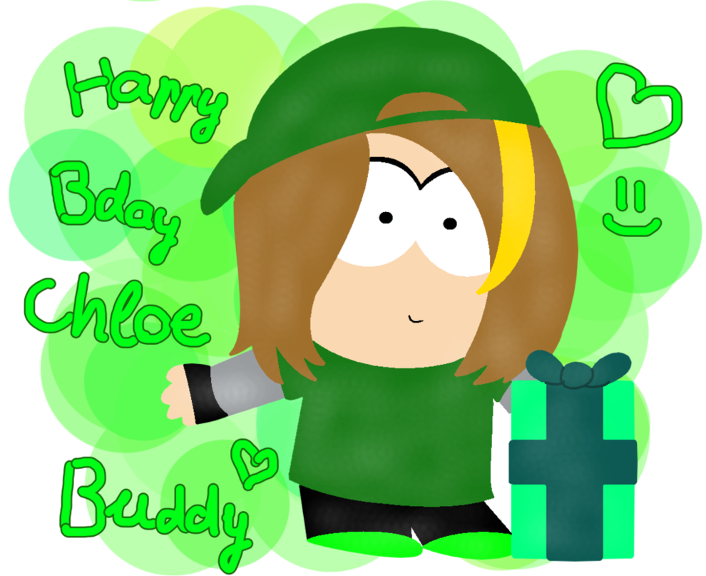 Bully drawing buddy. Happy birthday chloe by