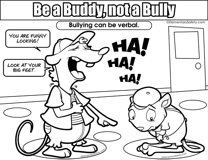 Bully drawing drawn. Bullying coloring pages free
