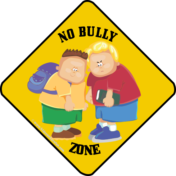 Bullying drawing cut. No bully zone caution