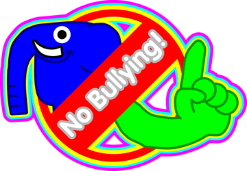 Bully drawing physical bullying. Art against on end