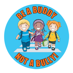 Bullying clipart be a buddy not a bully. Safety sticker