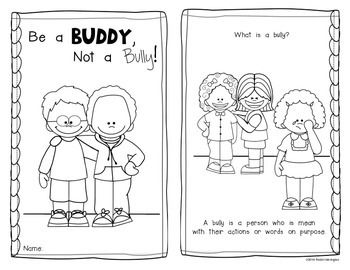 Emergent reader for kindergarten. Bullying clipart be a buddy not a bully freeuse