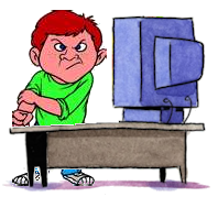 Bullying clipart cartoon character. Cyber group with items