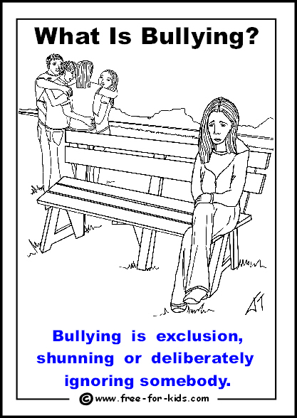 Bullying clipart deliberately. Printable anti colouring pages