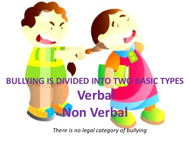 Bullying clipart non verbal.