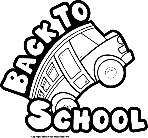 to school clip. Back clipart back side jpg black and white download