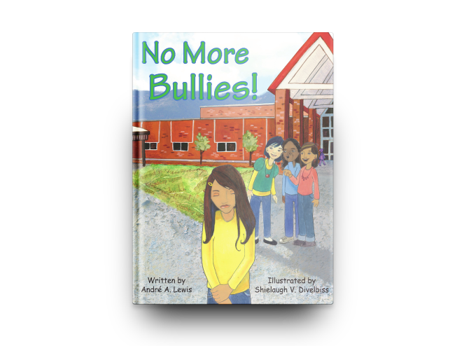 Bullying drawing cartoon. No more bullies literary