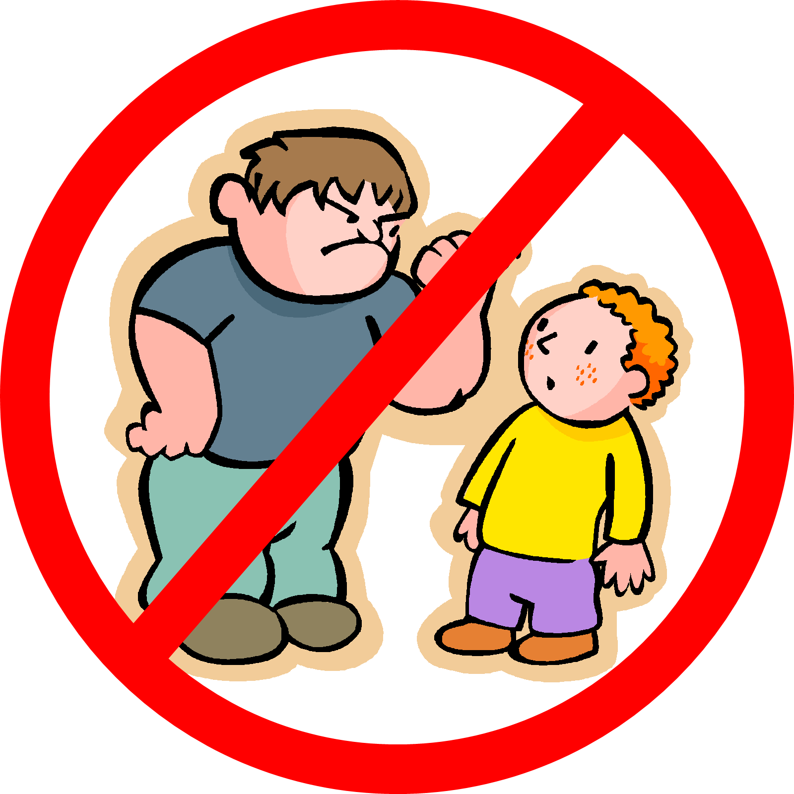 Bullying drawing cartoon. Collection of anti