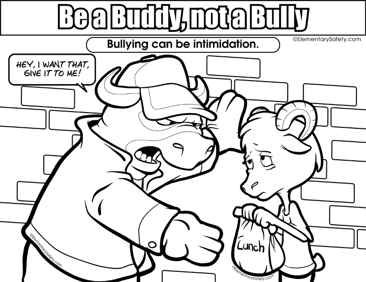Bullying drawing easy. Anti coloring pages mapiraj