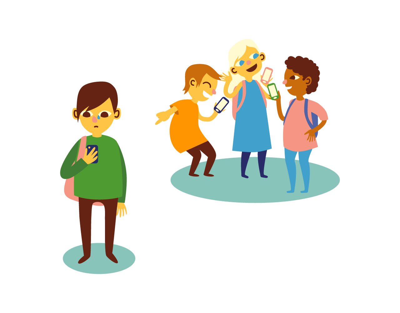 Bullying drawing kid. Bully clipart home end