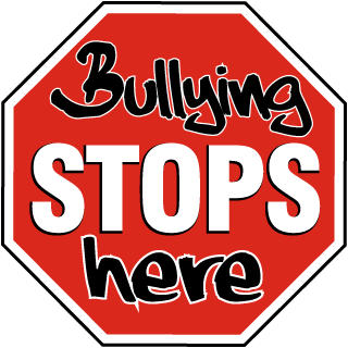Bully drawing stop bullying. Free signs stops here