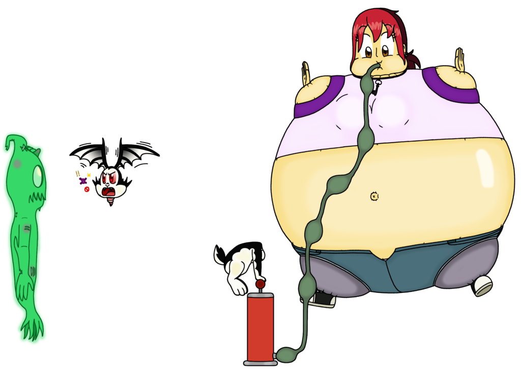 Bunnicula drawing scary. Mina reinflated by bunny