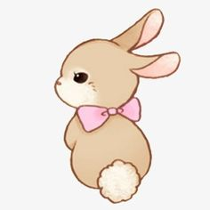 Bunny clipart. Cute pink png clip