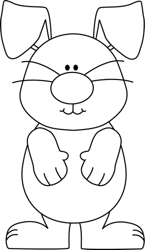 Bunny clipart black and white. Clip art images with
