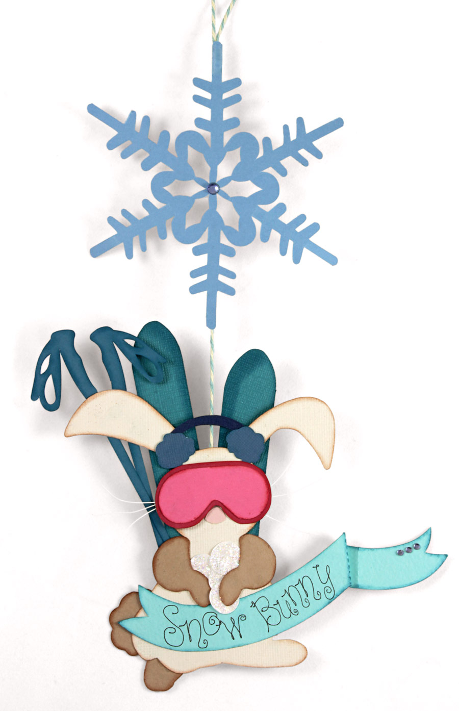 Bunny clipart winter. Snow decoration pazzles craft