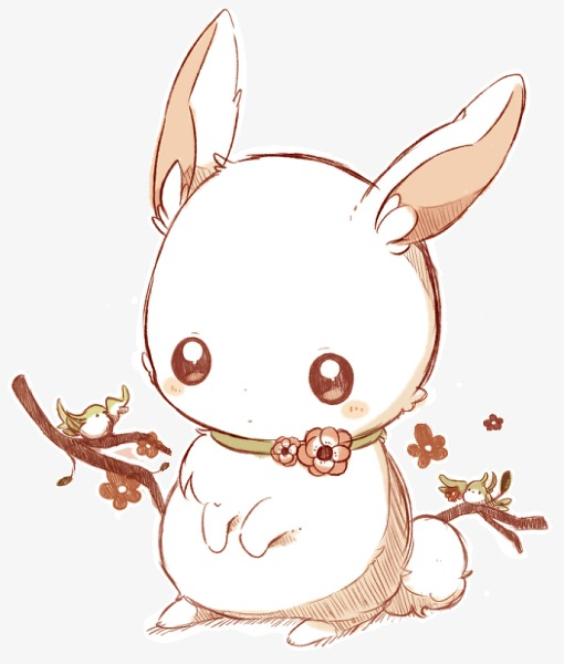 Bunny clipart winter. Cute hand painted rabbit