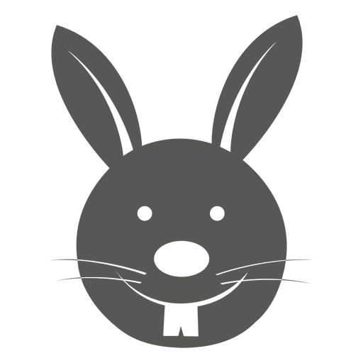 Bunny head png. Icon transparent svg vector