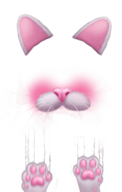 Snapchat heart filter png. Bunny simple transparent stickpng