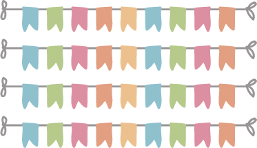 Bunting banner png. Banners kids stickers tenstickers