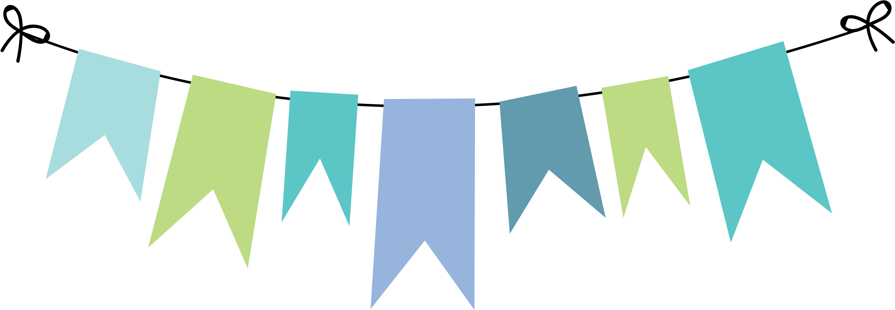 Party bunting png. Download monster inc banner