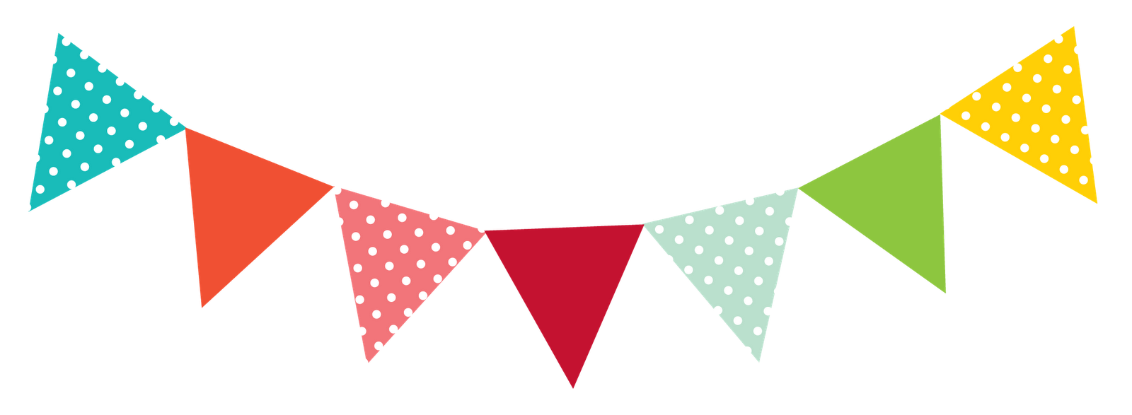 Streamers vector colourful bunting. Collection of free bunging
