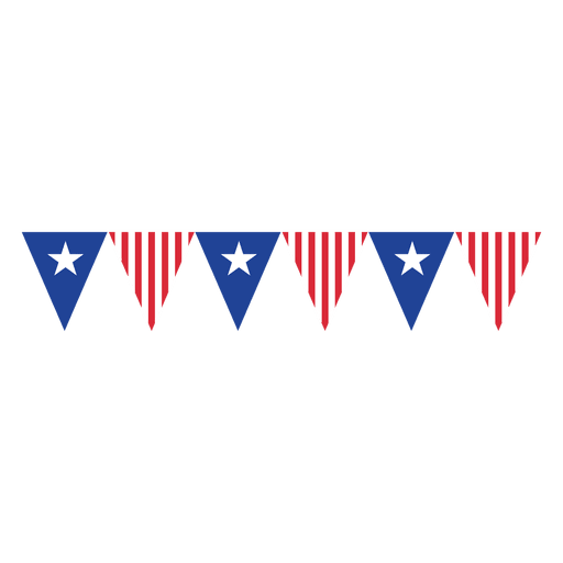 Bunting vector template. Triangles usa flag transparent