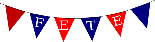 Bunting vector. Collection of free buntine