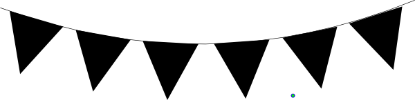 Bunting vector black. Clipart and white pencil