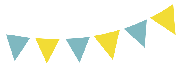 Bunting vector design. Blue yellow png svg