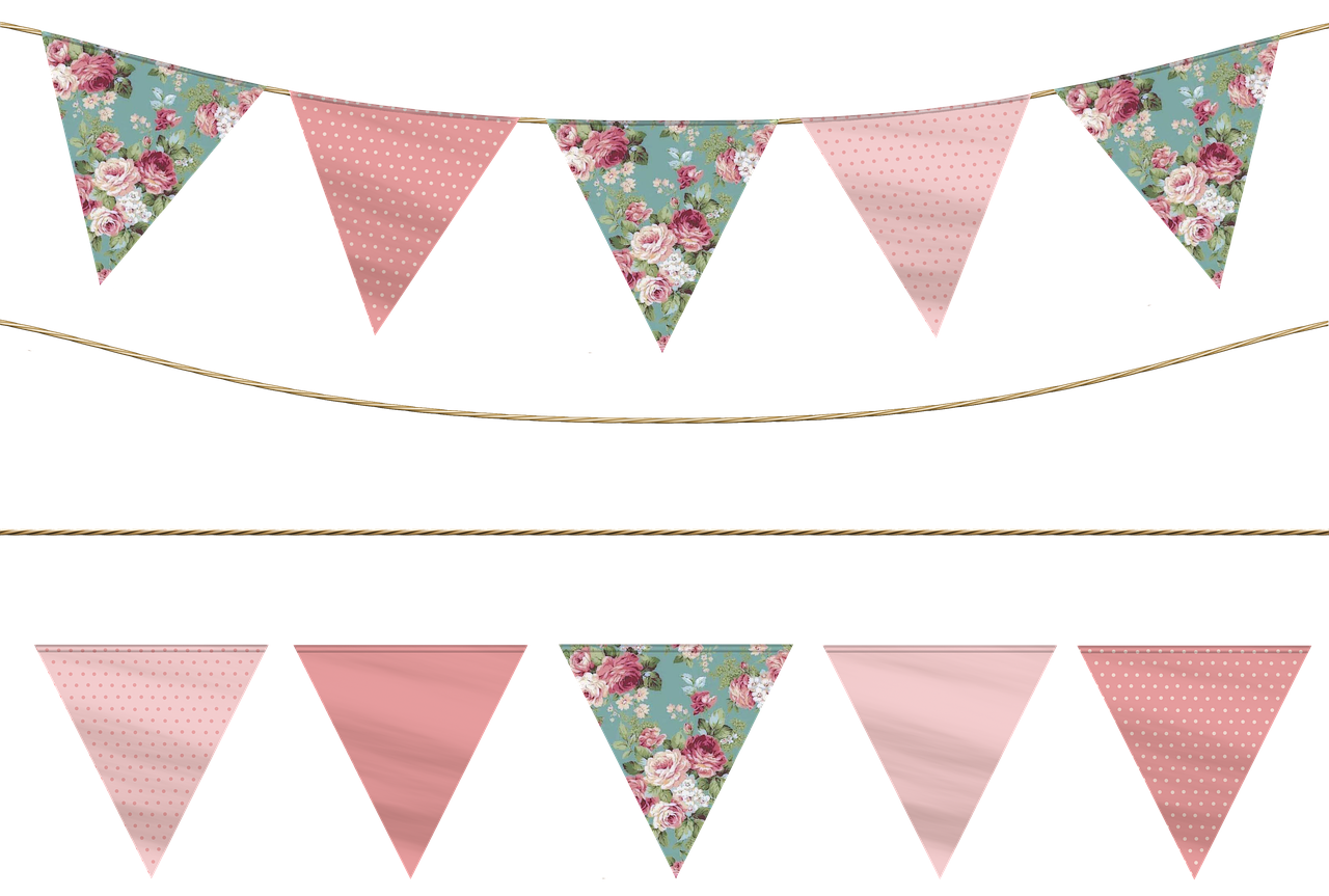 Bunting vector lace. Free image on pixabay