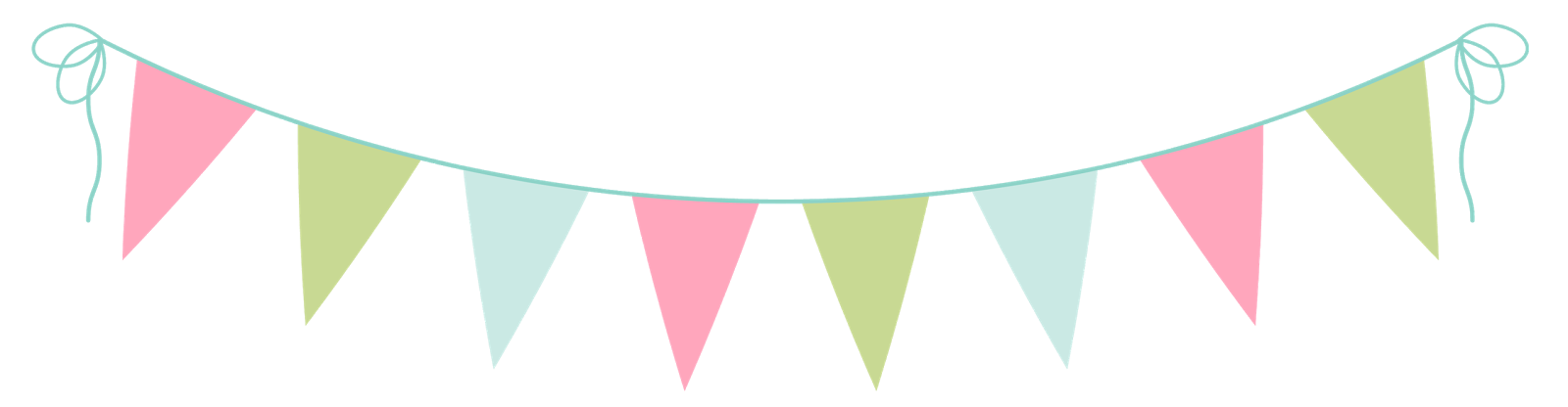 Bunting vector pastel. Collection of afternoon