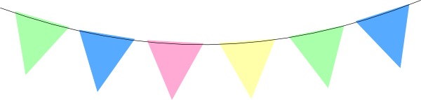 Bunting vector pastel. Collection of free buntine