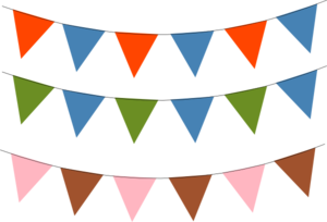 Bunting vector pennant banner. Clip art at clker