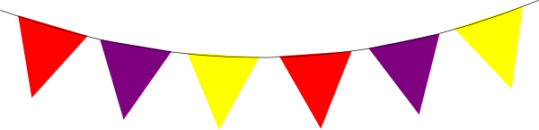 Bunting vector template. Red purple yellow clip