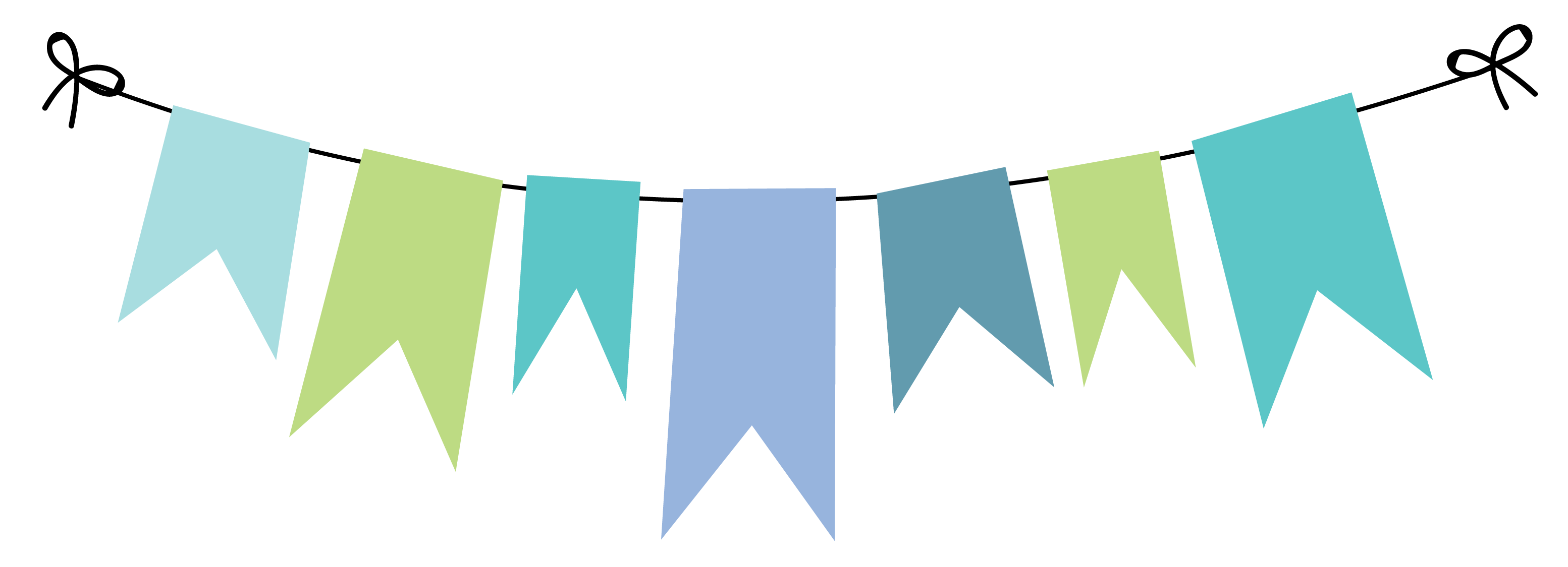 Streamers vector colourful bunting. Pin by letty portillo