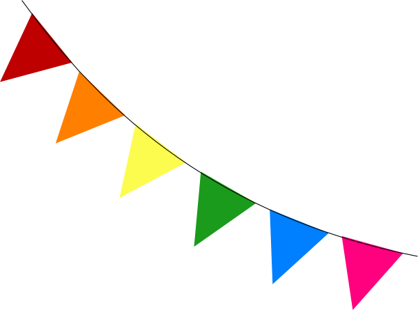 Bunting vector transparent background. Collection of free buntine
