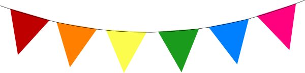 Bunting vector transparent background. Rainbow clip art at