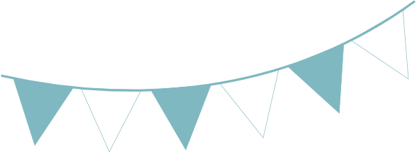 Bunting vector wedding. Collection of free bunging