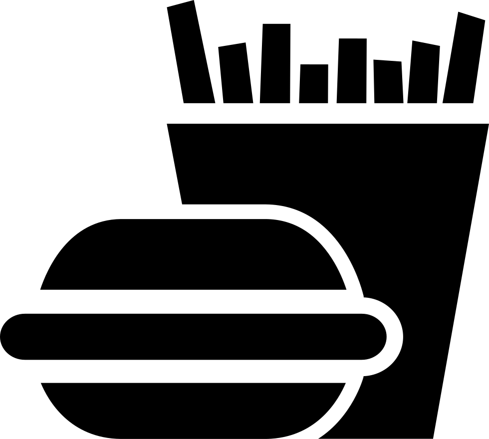 Bag fries vector png. Burger and svg icon