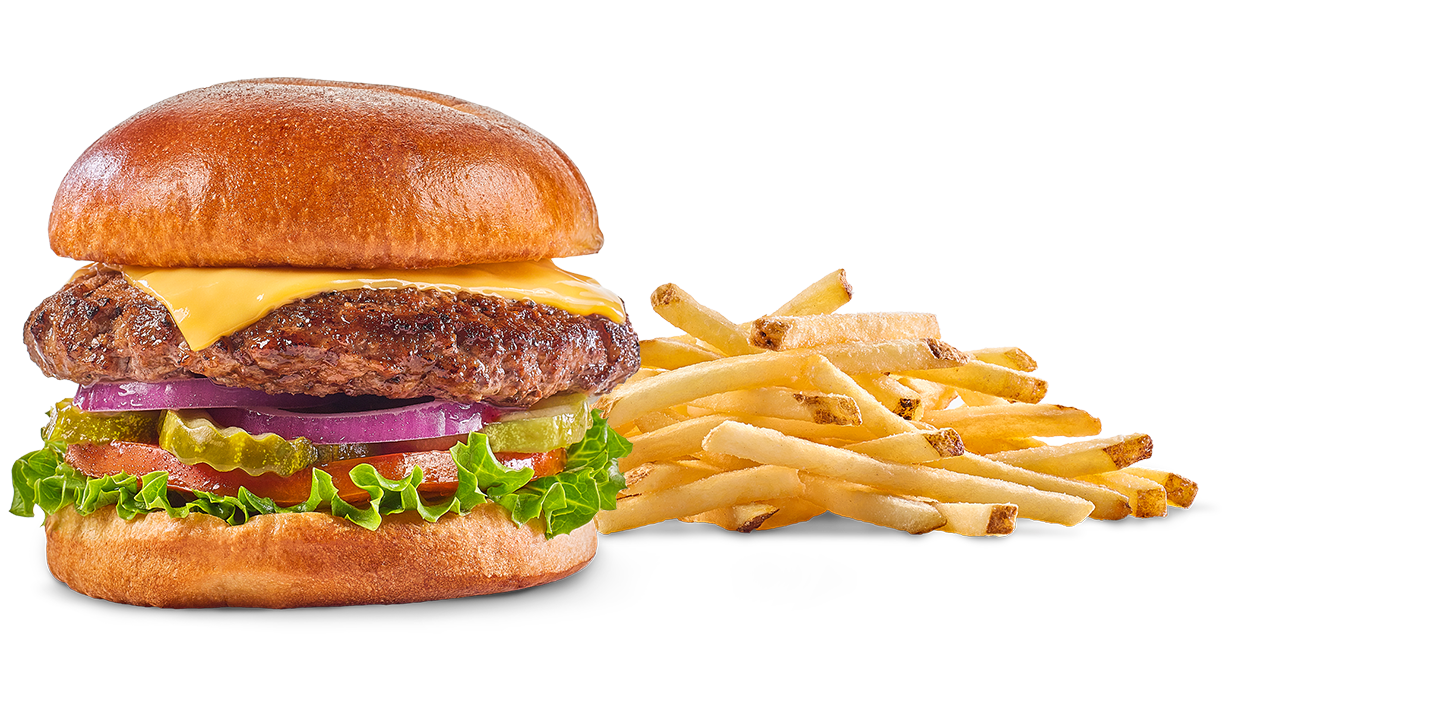 Cheeseburger with fries png. Football deals burger w
