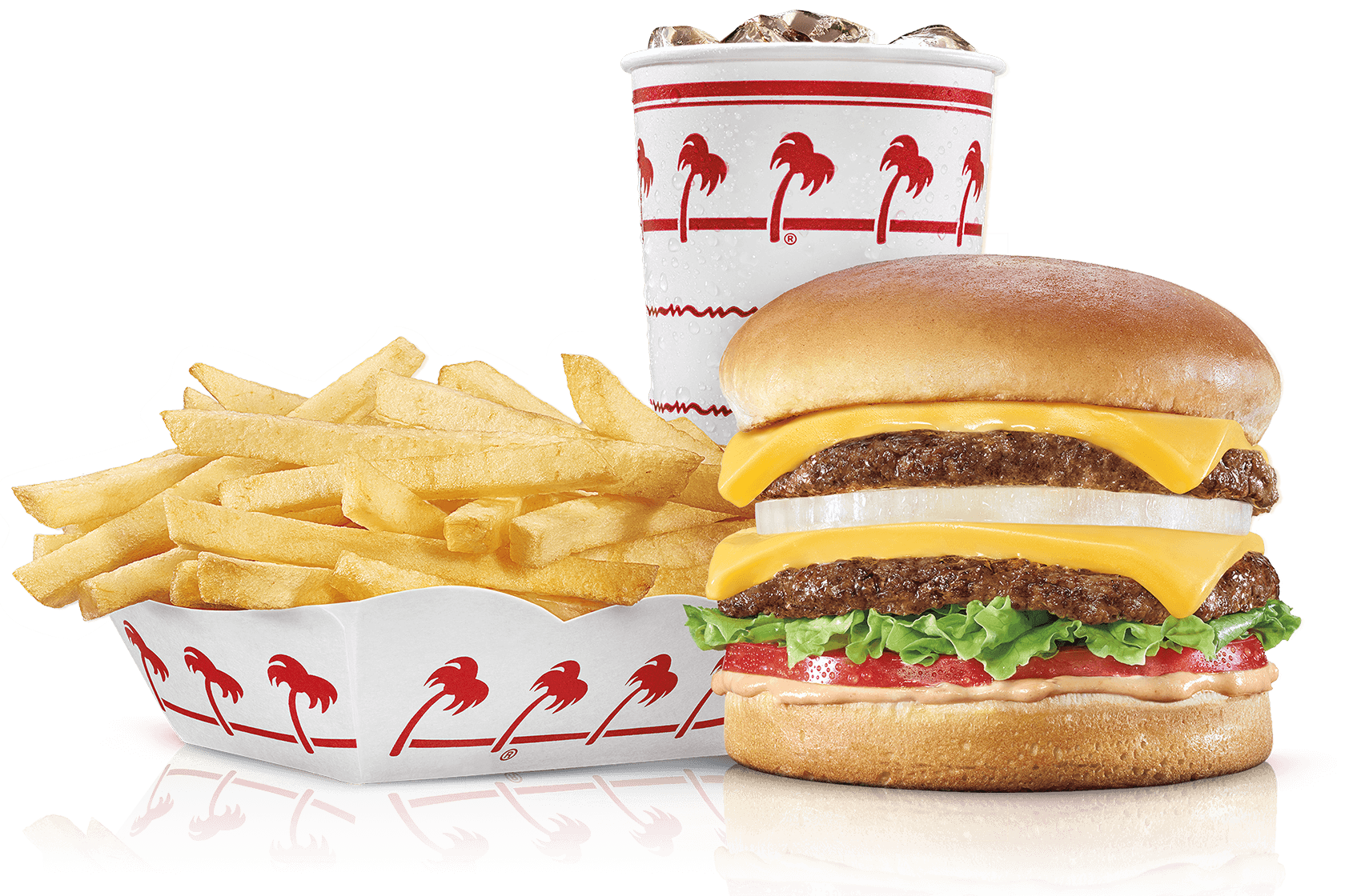Cheeseburger with fries png