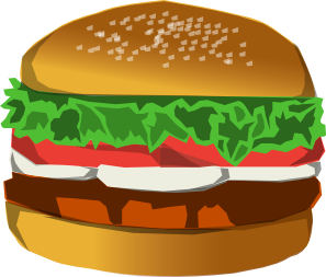 vector hamburger fry