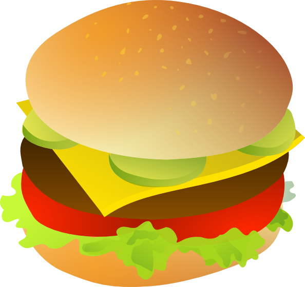 Hamburger svg comic. Cheese burger clip art