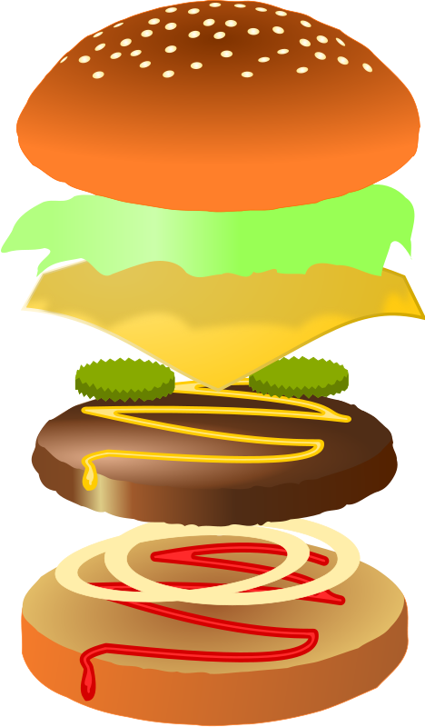 Burger clipart fast food. Pizza burgers hot dogs
