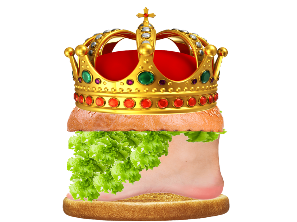 Number by zebraboy on. Burger king foot lettuce png picture transparent library
